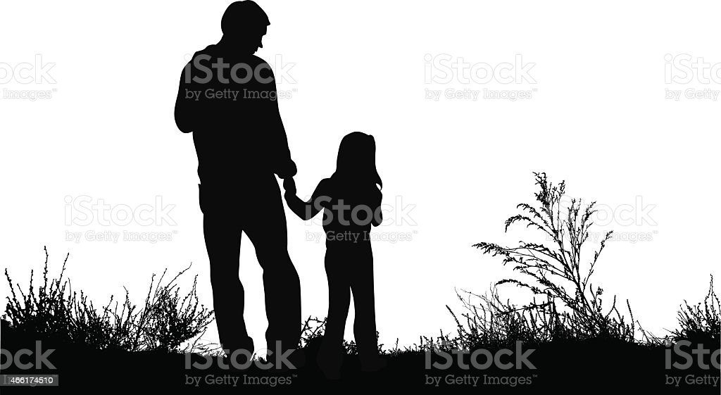 royalty free father daughter clip art vector images illustrations rh istockphoto com free father daughter clipart father mother daughter clipart