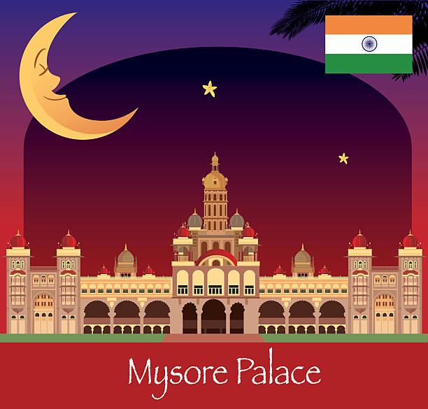 palast von mysore - mysore stock-grafiken, -clipart, -cartoons und -symbole