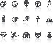 Mysteries related vector icons for your design and application.