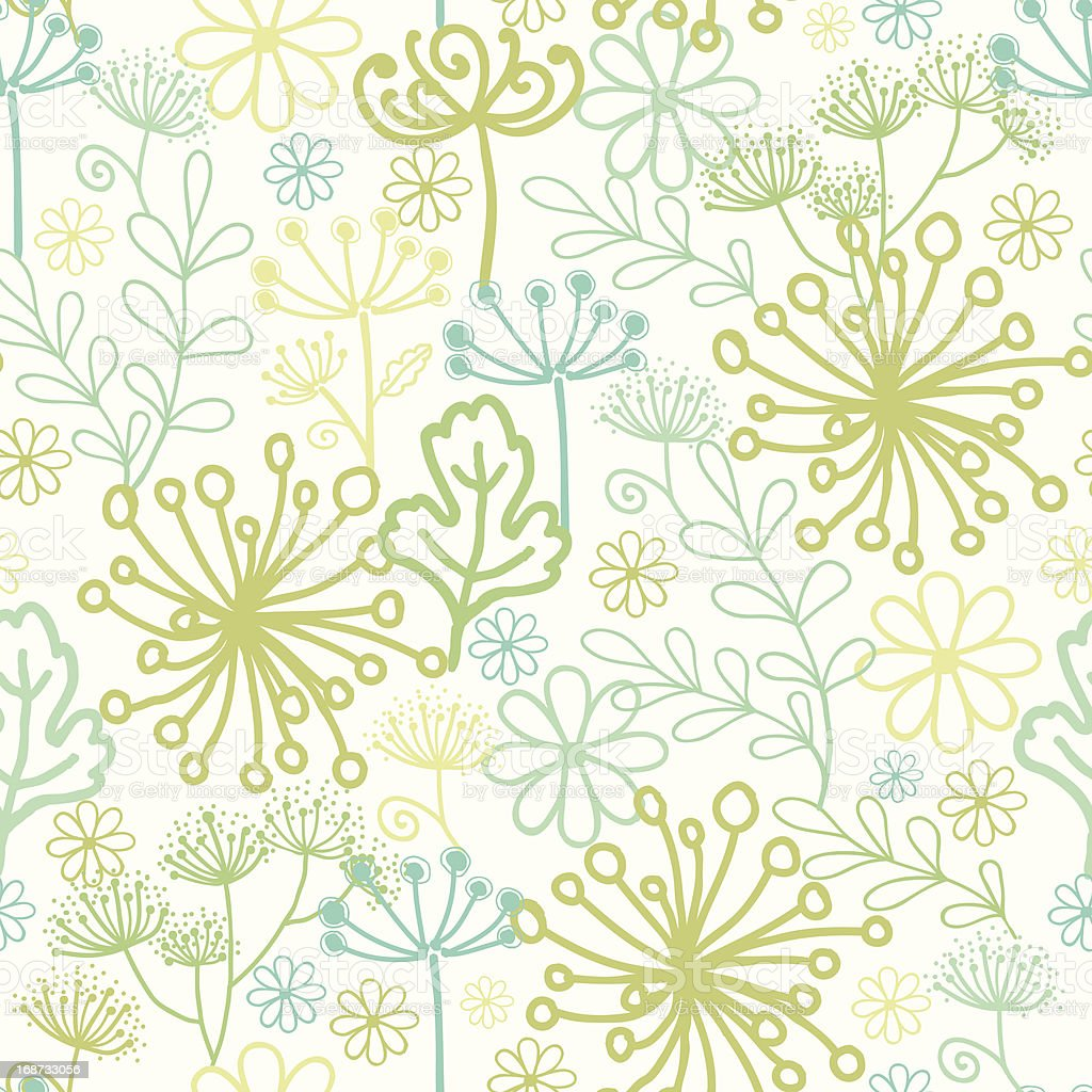 Mysterious green garden seamless pattern background royalty-free stock vector art