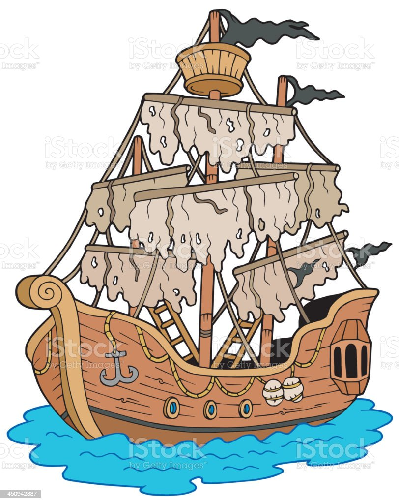 Mysterious ship royalty-free mysterious ship stock vector art & more images of anchor - vessel part