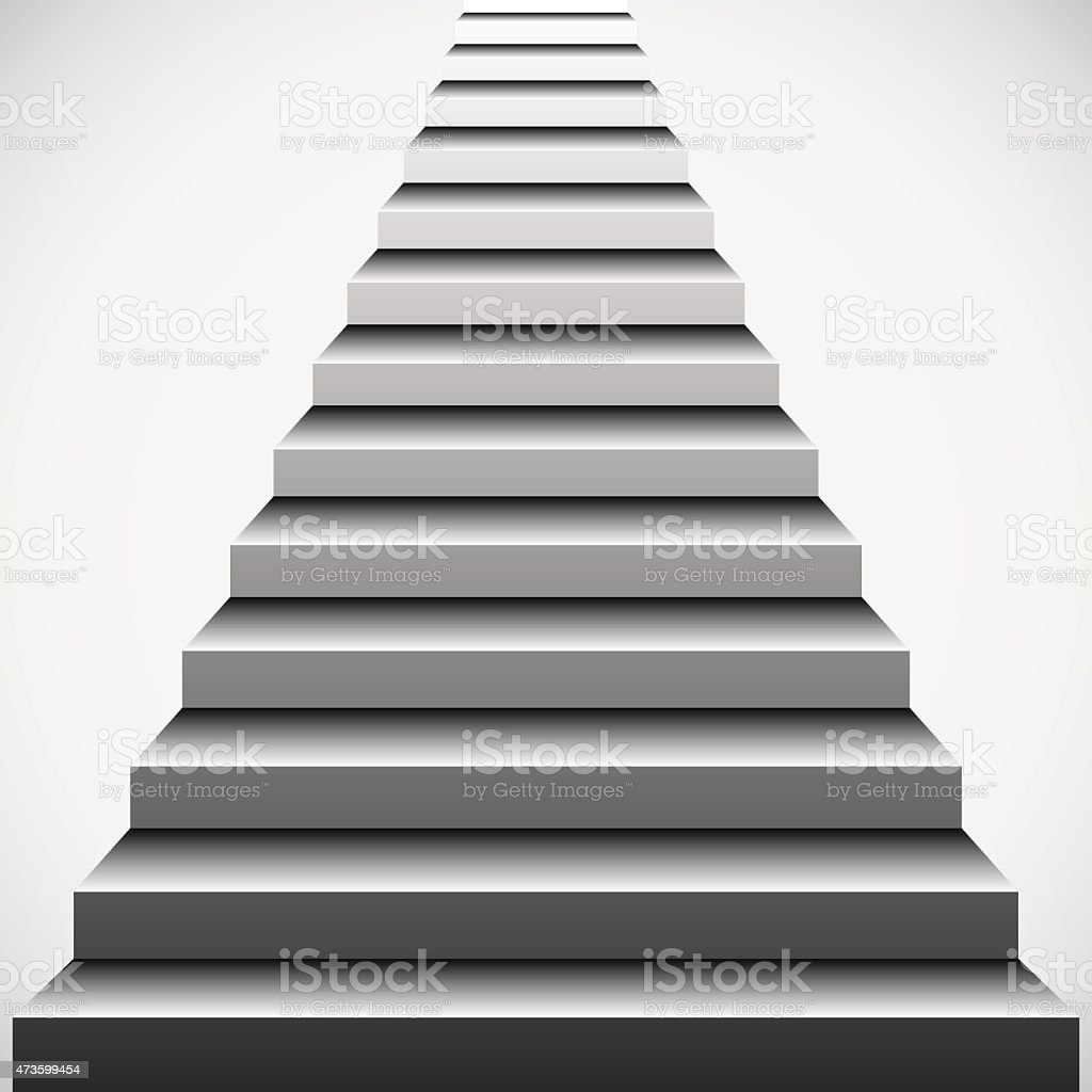 Mysterious stairs vector art illustration