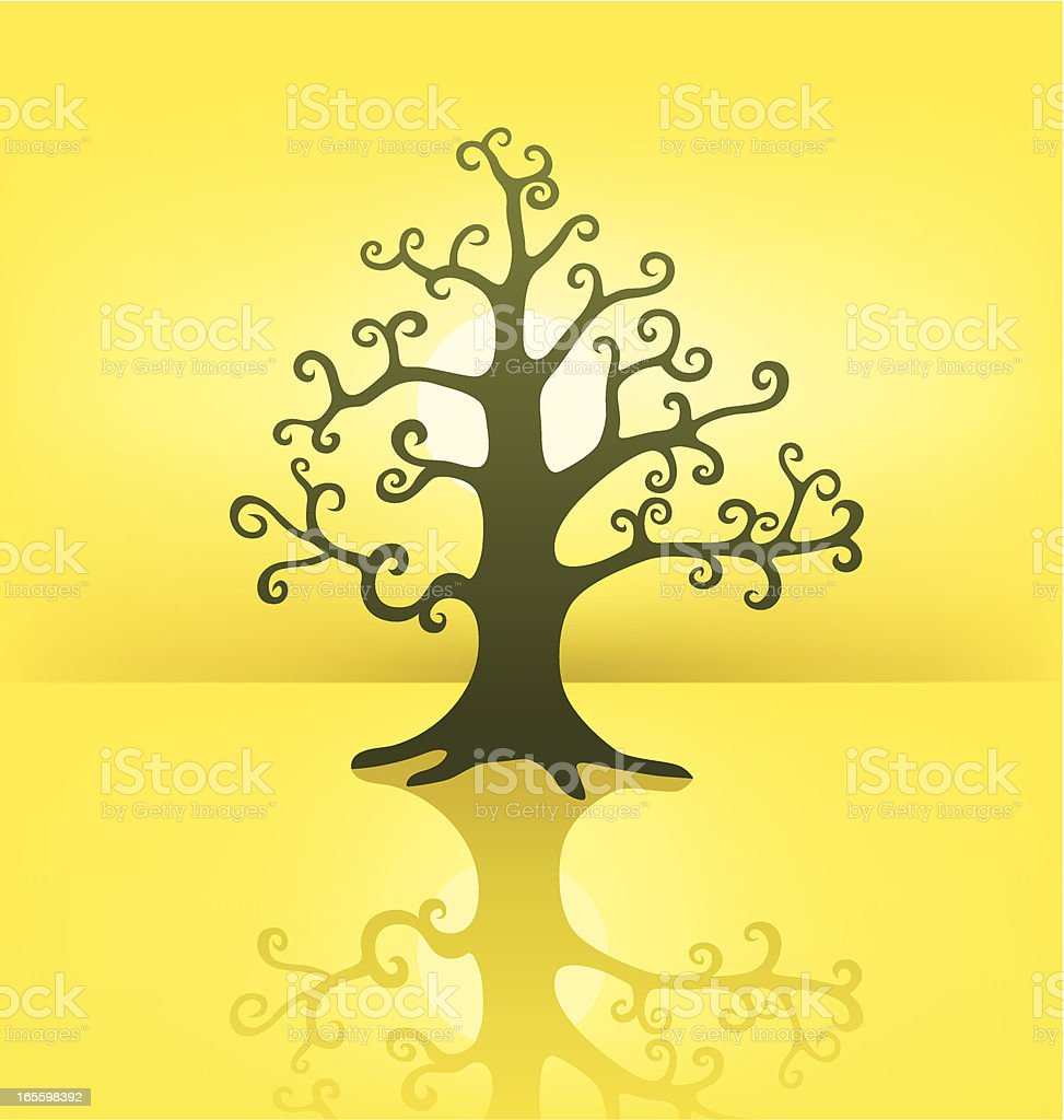 Mysterious Tree Silhouette royalty-free stock vector art