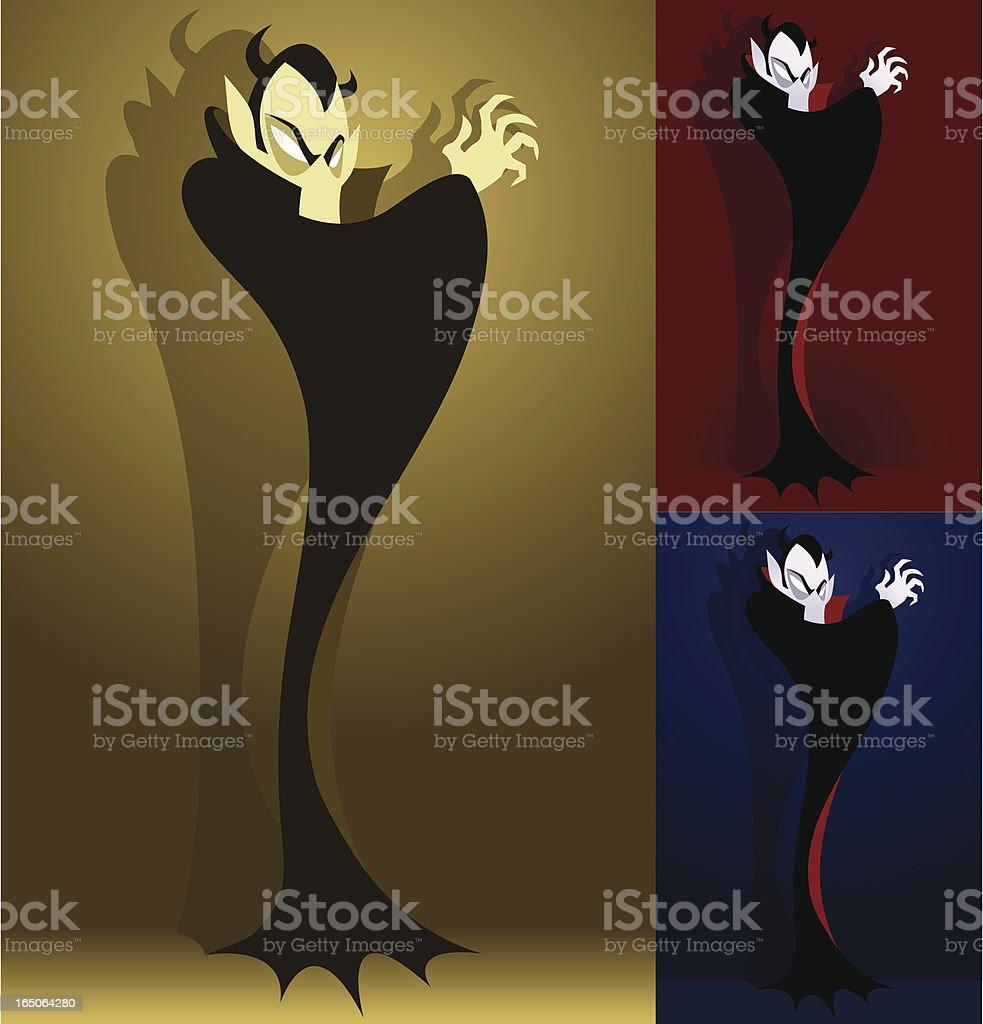 Mysterious Vampire vector art illustration