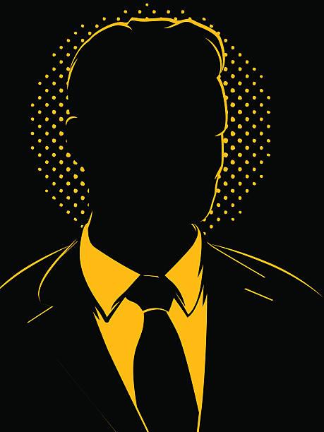 Mysterious Vintage Businessman vector art illustration