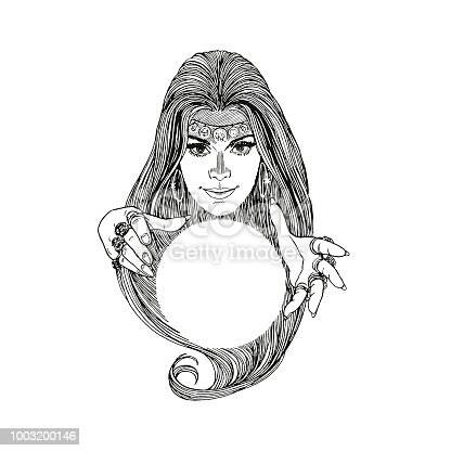 Mysterious Woman and Crystal Ball