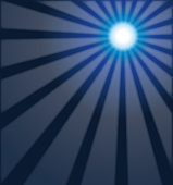 Vector Illustration of a dark blue mystic blue rays