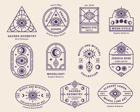 Mystic emblems set