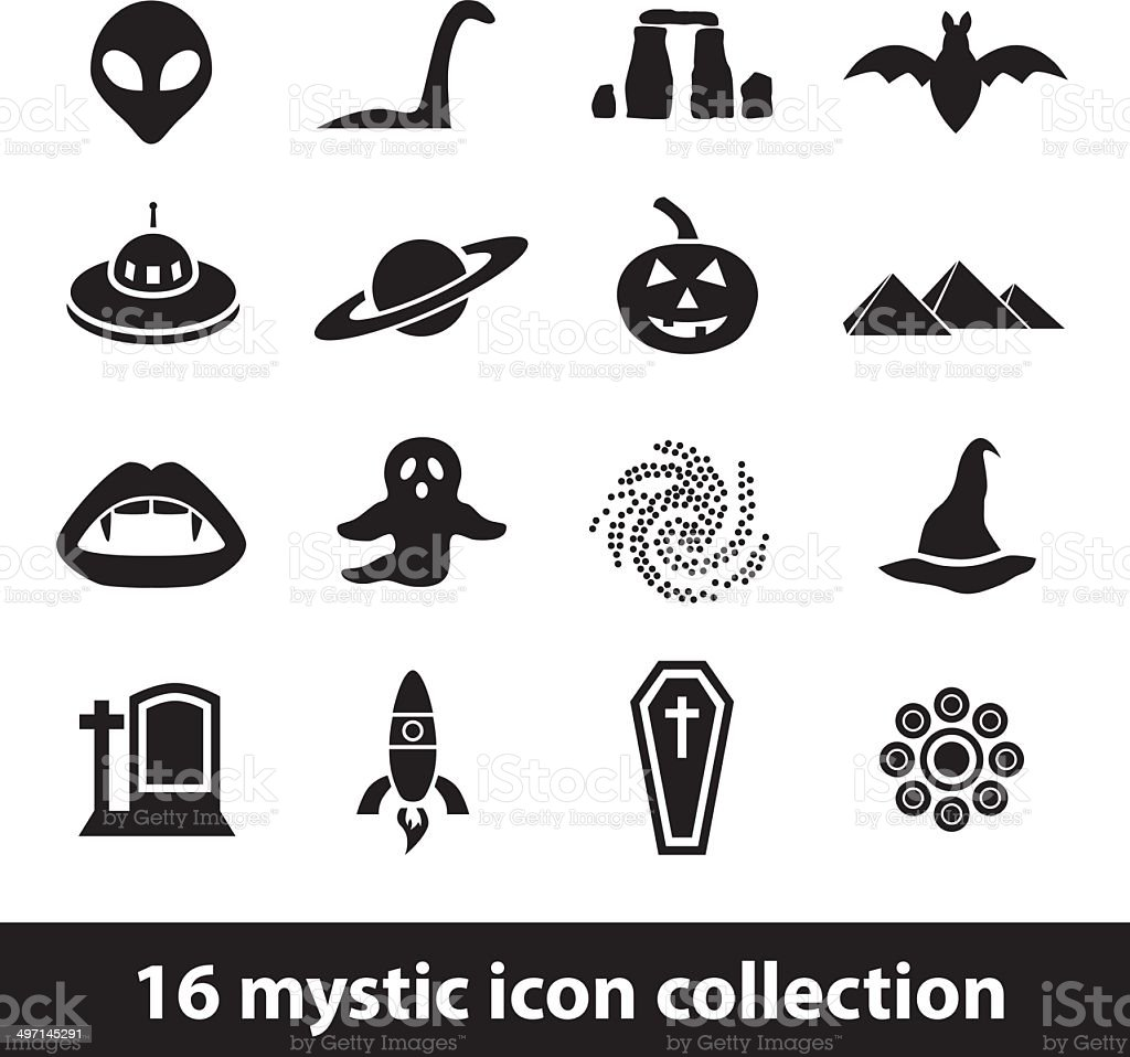 mystic icons royalty-free stock vector art