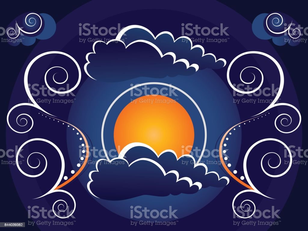 Mystic Moon Background Stock Vector Art & More Images of Abstract