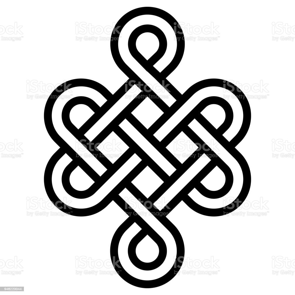 Mystical Knot Of Longevity And Health Sign Good Luck Feng Shui
