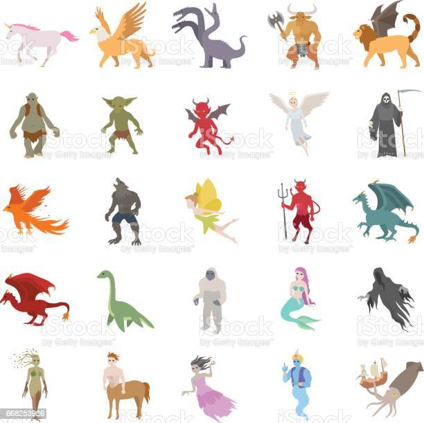 Mythical creatures color vector icons vector id668253986?b=1&k=6&m=668253986&s=612x612&h=xa5q6tbmhtnewmexign5arpqe7pcsruhxye4h1myhms=