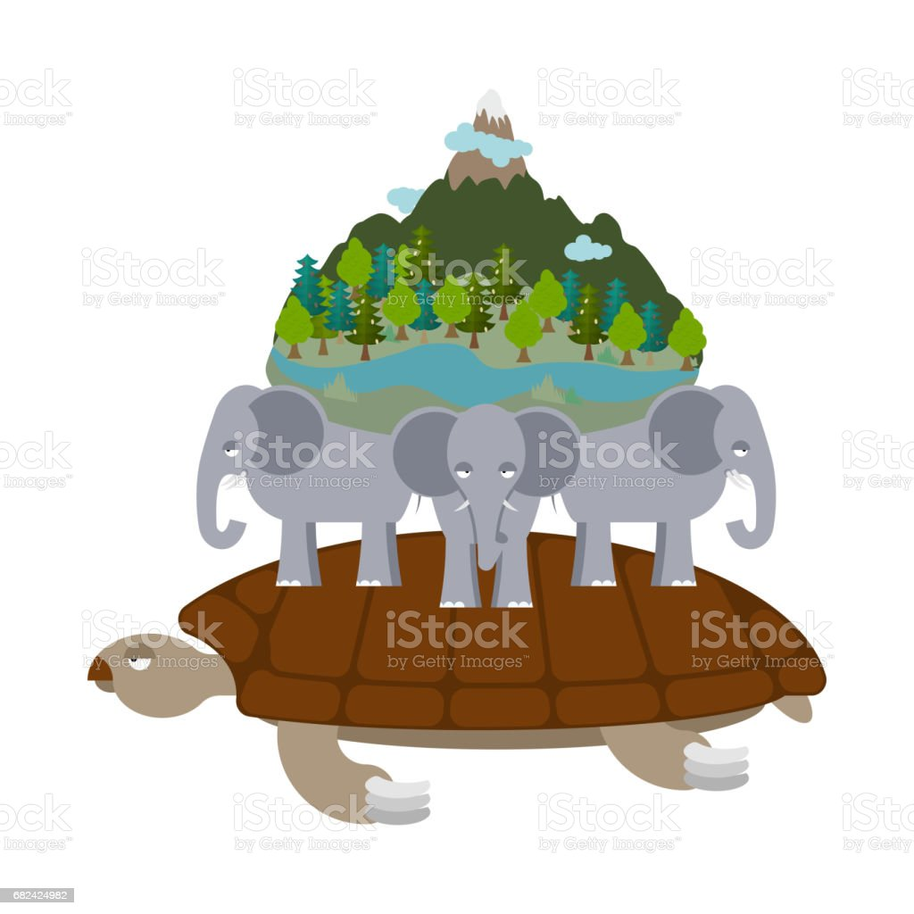Mythological planet earth. turtle carrying elephants. Ancient representation of world royalty-free mythological planet earth turtle carrying elephants ancient representation of world stock vector art & more images of ancient