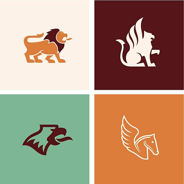 신화 짐승 - 그리핀 stock illustrations