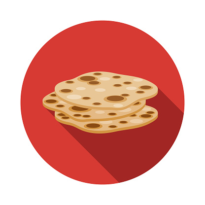 Naan Bread Indian Food Icon