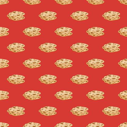 Naan Bread Indian Food Pattern