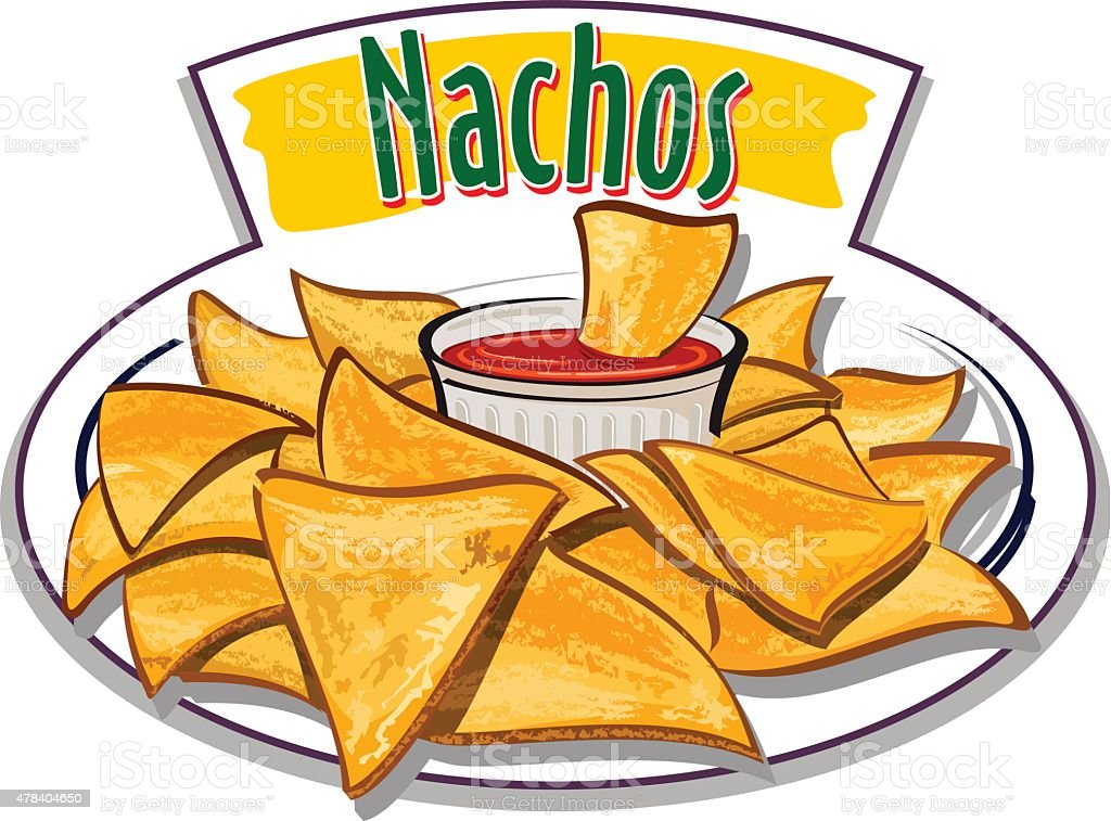 royalty free nacho chips clip art vector images illustrations rh istockphoto com nachos clipart black and white eating nachos clipart