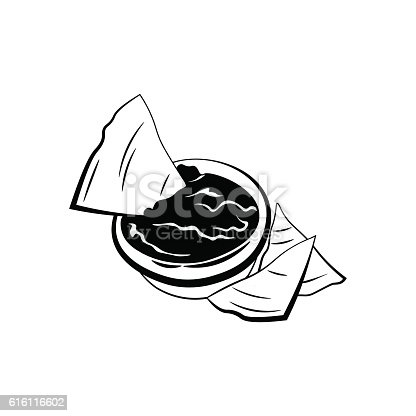 istock Nachos with Salsa Sauce. Mexico Snack. Traditional Mexican Cuisine. An 616116602