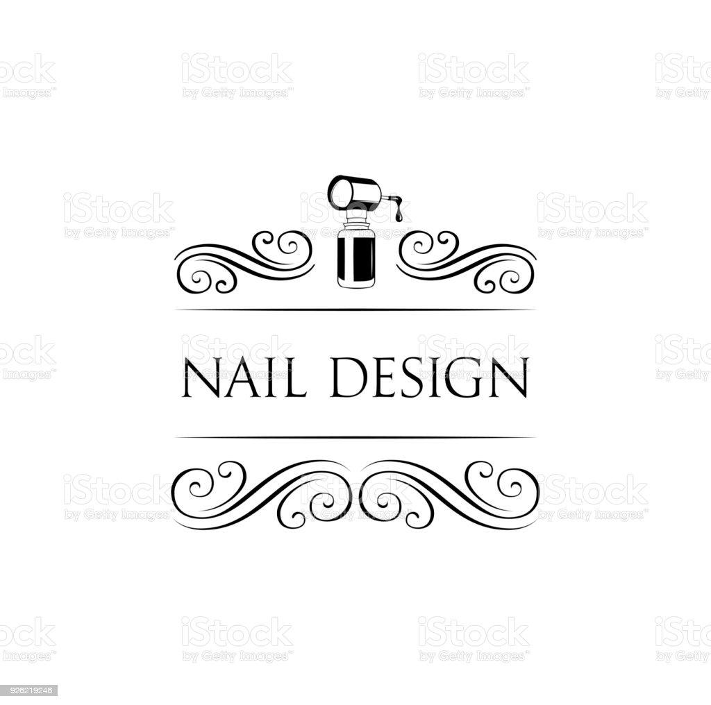 nail art studio template for logo nail polish icon vector illustration stock vector art  u0026 more
