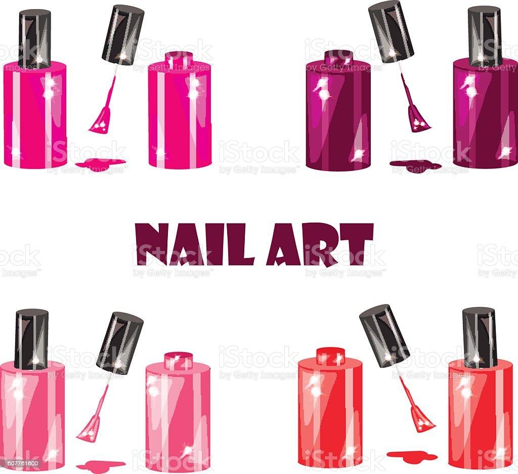 nail art vector art illustration