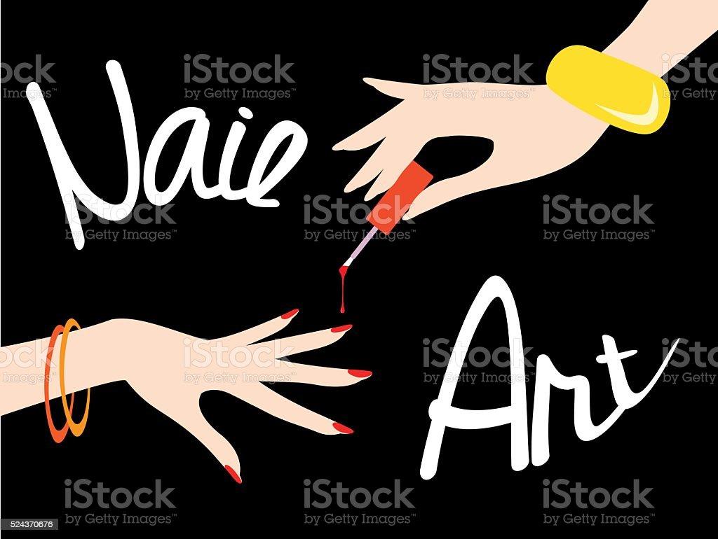 Nail art. Vector illustration vector art illustration