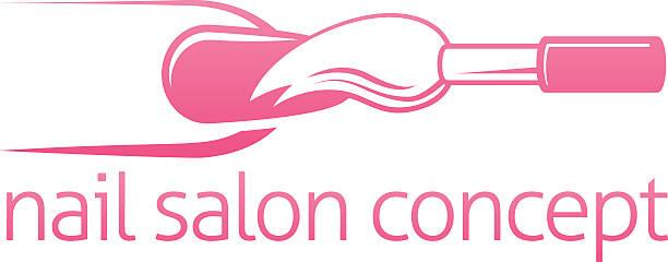 Nail Bar Or Salon Concept Vector Art Illustration