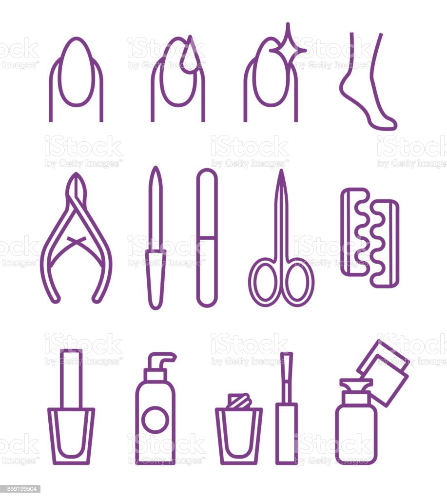 Nail Beauty Spa Manicure Vector Icon