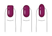 Nail care. Manicure. Vector