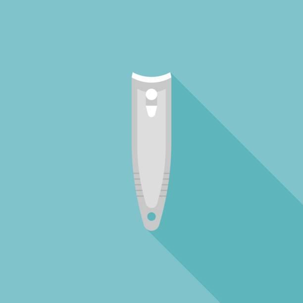 nail clipper icon – artystyczna grafika wektorowa