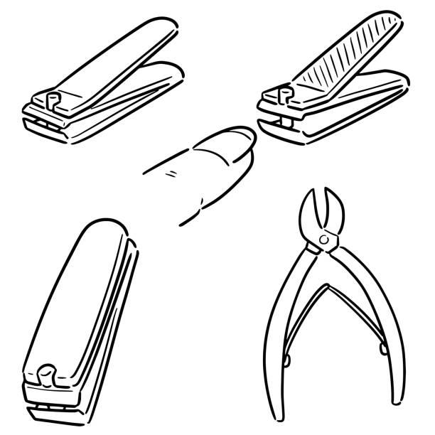 nail clipper – artystyczna grafika wektorowa