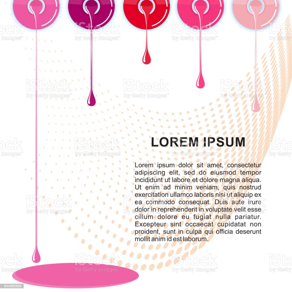Nail Polish Banner Template Stock Vector Art & More Images of Art ...
