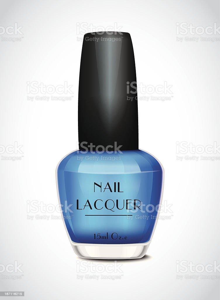 Nail Polish Blue royalty-free stock vector art