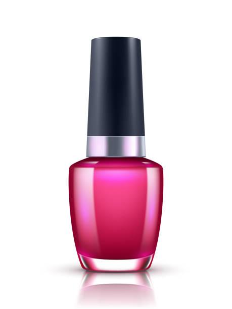 Nail polish bottle on white background Nail polish bottle on white background white nail polish stock illustrations
