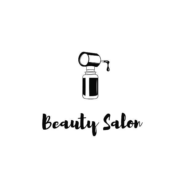 Nail polish bottle vector illustration isolated on white. Nail polish bottle vector illustration isolated on white. Beauty Salon Label white nail polish stock illustrations