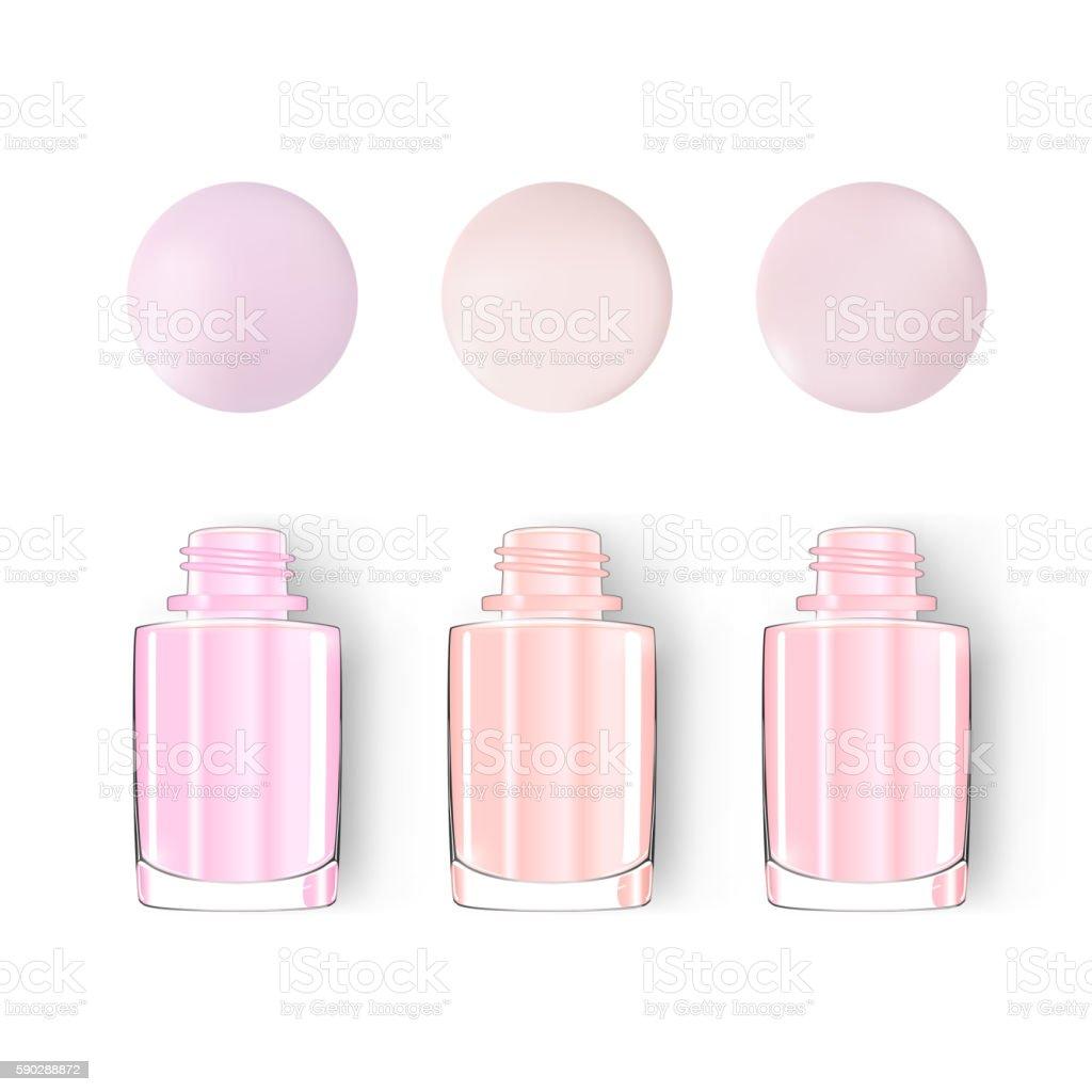 Nail polish bottle with blot isolated on white. pastel. vector. vector art illustration
