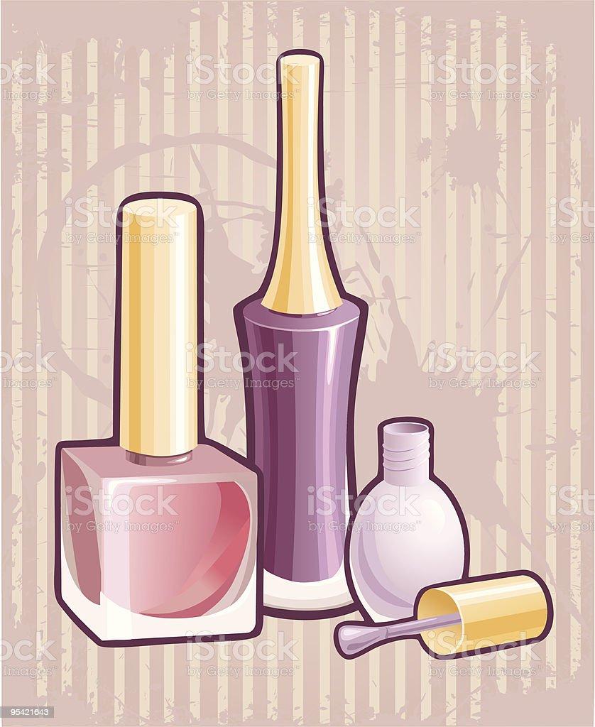 Nail polish royalty-free stock vector art