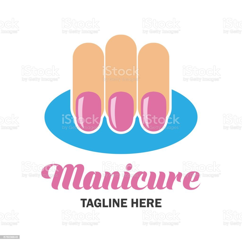 nail salon manicure pedicure icon with text space for your slogan / tagline, vector illustration vector art illustration