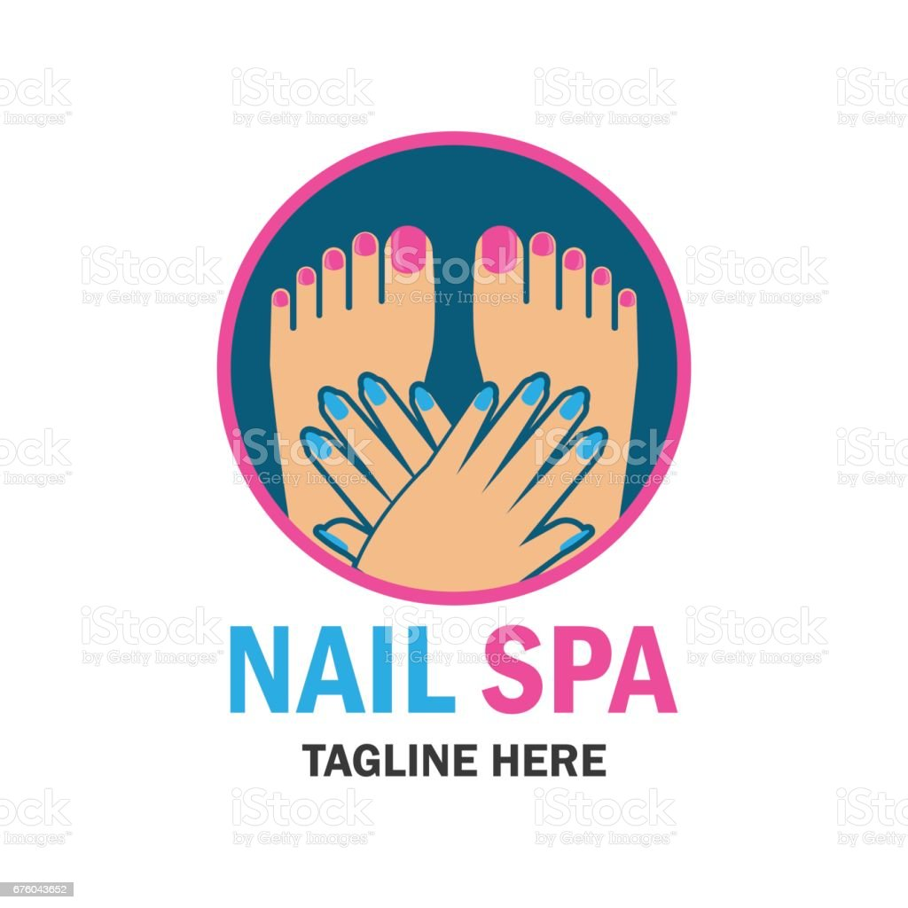 Nail Salon Manicure Pedicure Icon With Text Space For Your Slogan ...