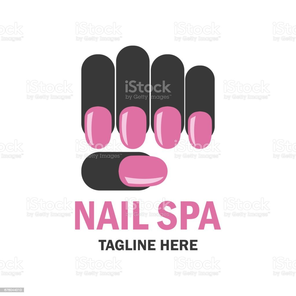 Nail salon manicure pedicure icon with text space for your for Salon de manucure