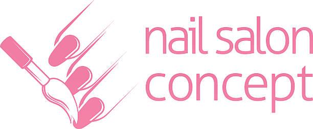 Nail Technician Concept Vector Art Illustration