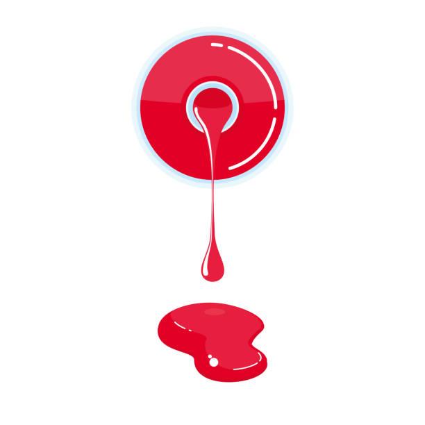 Nail Art Vector: Nail Polish Spill Illustrations, Royalty-Free Vector
