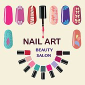 Nail manicure clip art free vector nail manicure 19 graphics nails art beauty salon background prinsesfo Image collections