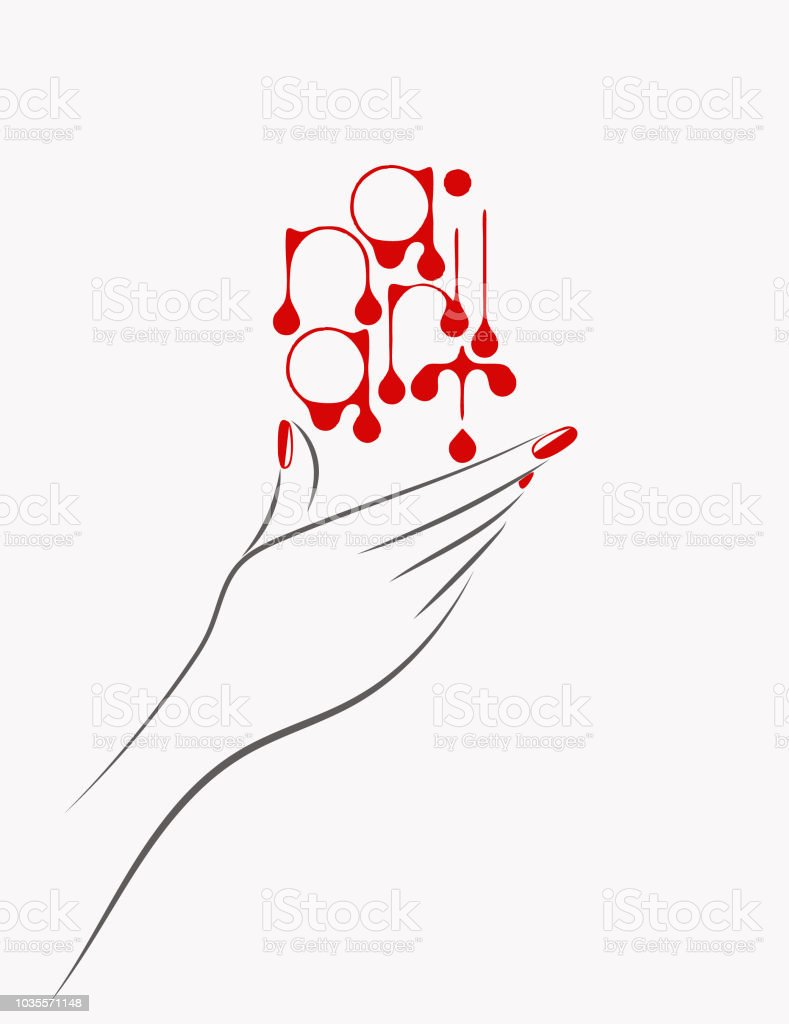 nails art vector illustrationbeautiful woman hand with elegant manicure stock vector art  u0026 more