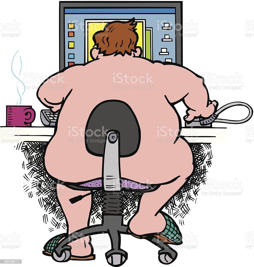 nackt am computer