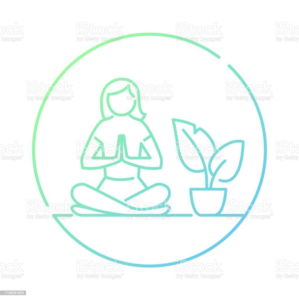 Namaste Lotus Yoga Stock Illustration Download Image Now Istock