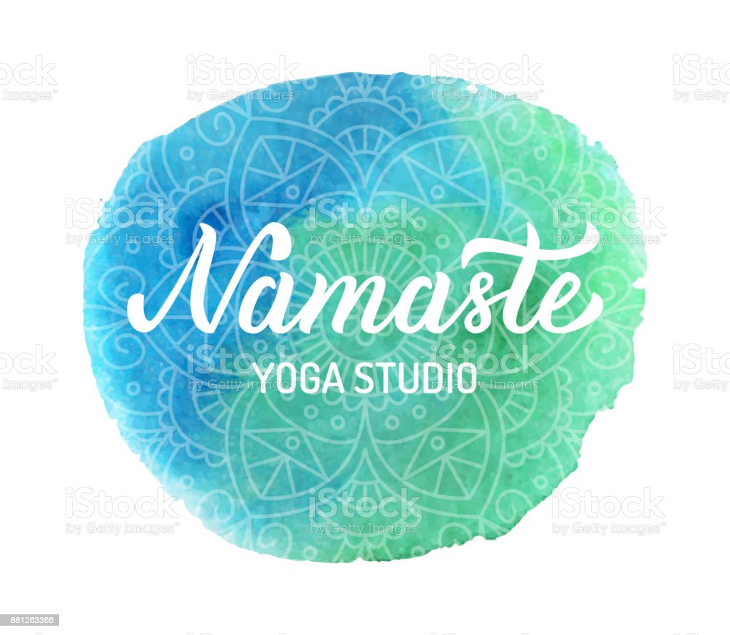 Logo de yoga Namaste ilustración de logo de yoga namaste y más banco de  imágenes de 05219bcc1593