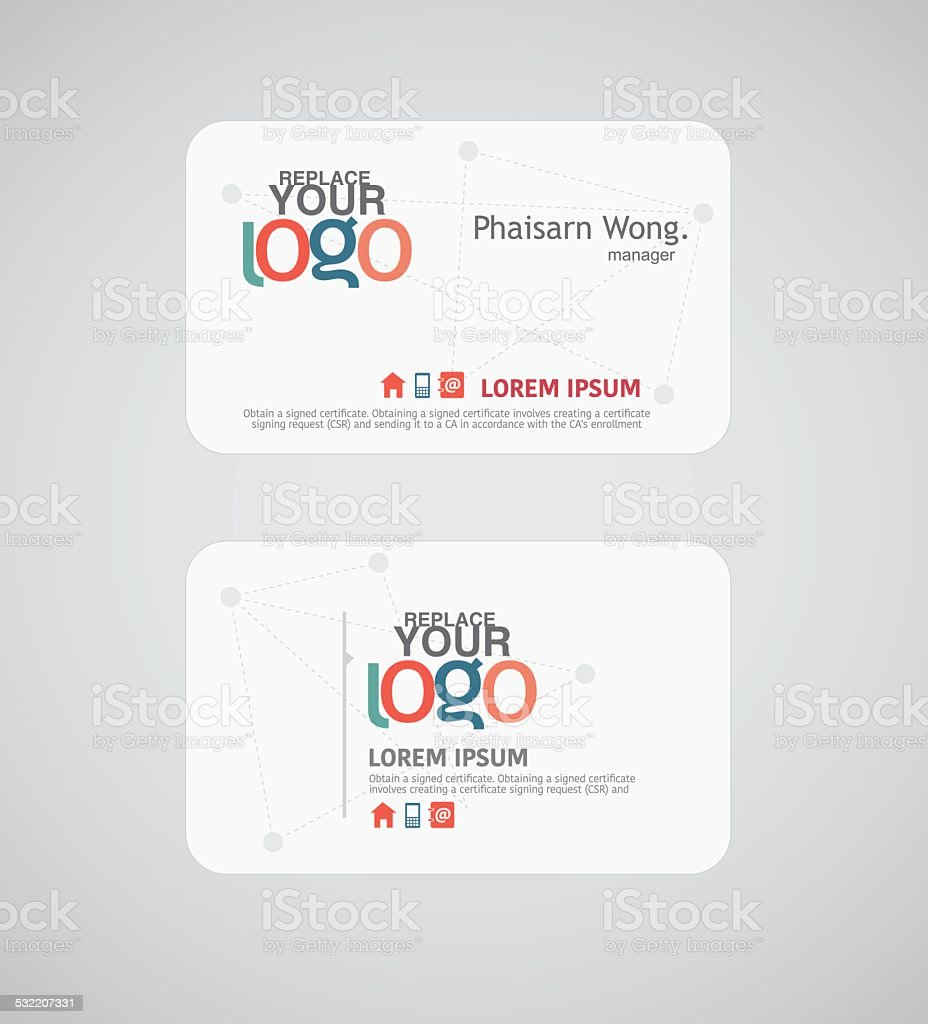 Name Card And Business Card Illustrator Stock Vector Art More