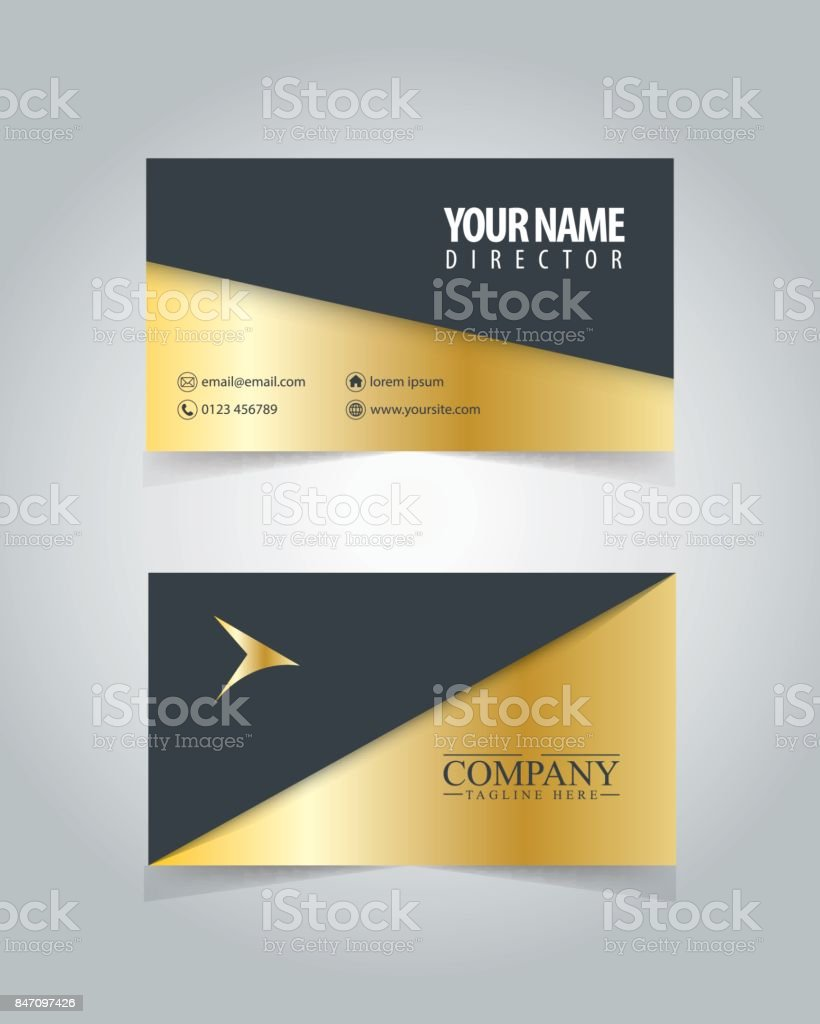Name Card Design Template For Business Stock Vector Art More - Name card design template