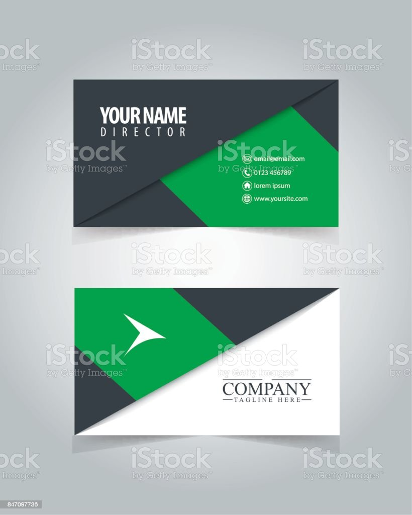 name card design template for business stock vector art more