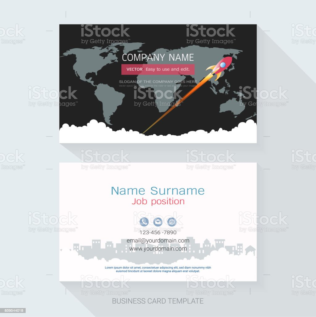 Name Card Or Business Card Design Templatethe Style Is Simple Also ...